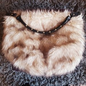 H & M Faux Fur Hobo Bag
